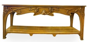 High-quality tailor table Liberty, attributed to Architect Ernesto Basile. With embossed floral
