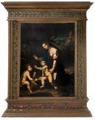 Italian painter of the sixteenth century circle of Raphael. Madonna with Baby Jesus and Saint John.