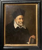 Marco Antonio Bassetti (Verona 1586-1630), allegedly by, Portrait of man with beard holding a book.