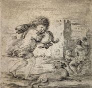 Etching, Stefano Della Bella (Florence 1610- 1664 Florence). Etching Signed on the lower left
