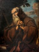 Oil paint on canvas depicting St. Francis of Paola in prayer, Francesco Fracanzano (Monopoli, July
