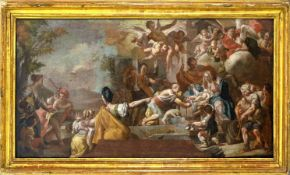 Oil painting on canvas depicting the Adoration of the Shepherds, Alessio D'Elia (San Cipriano