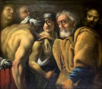 """Oil painting on canvas depicting """"The Return of the Prodigal Son"""", the seventeenth century,"""