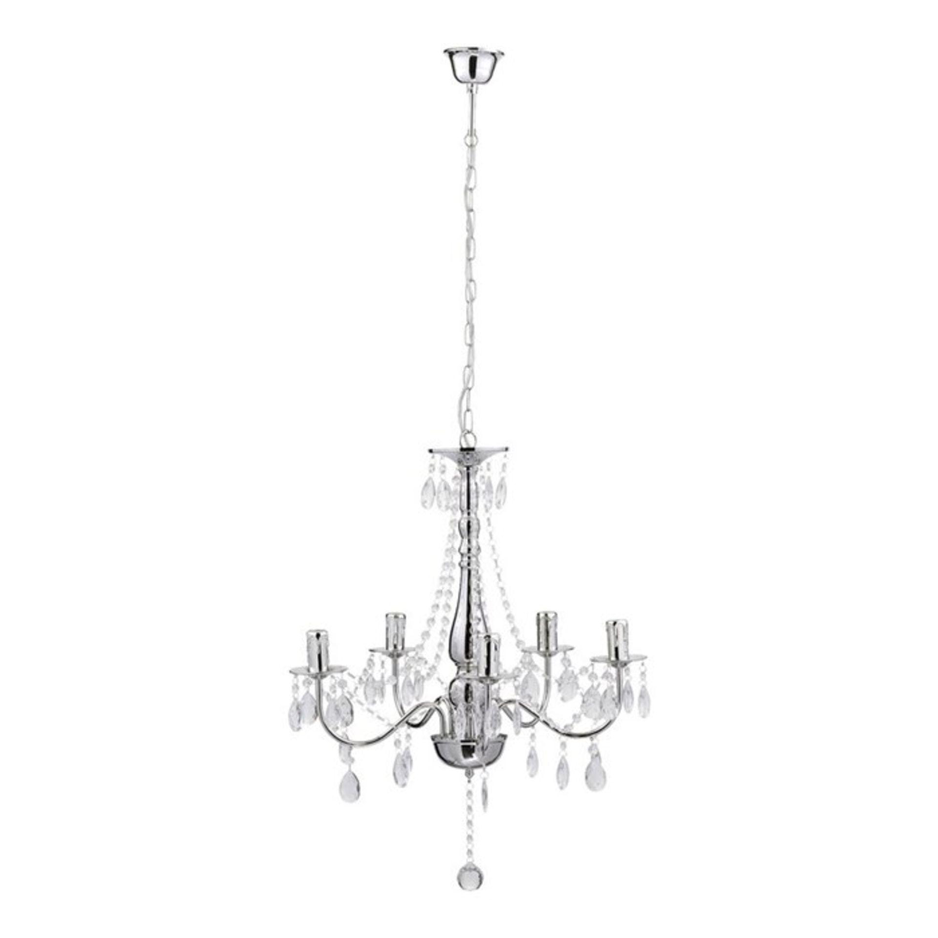 Lot 18 - Home Essence,William 5 Light Candle Chandelier - RRP £59.99 (QGL5610 - 15767/9) 7F