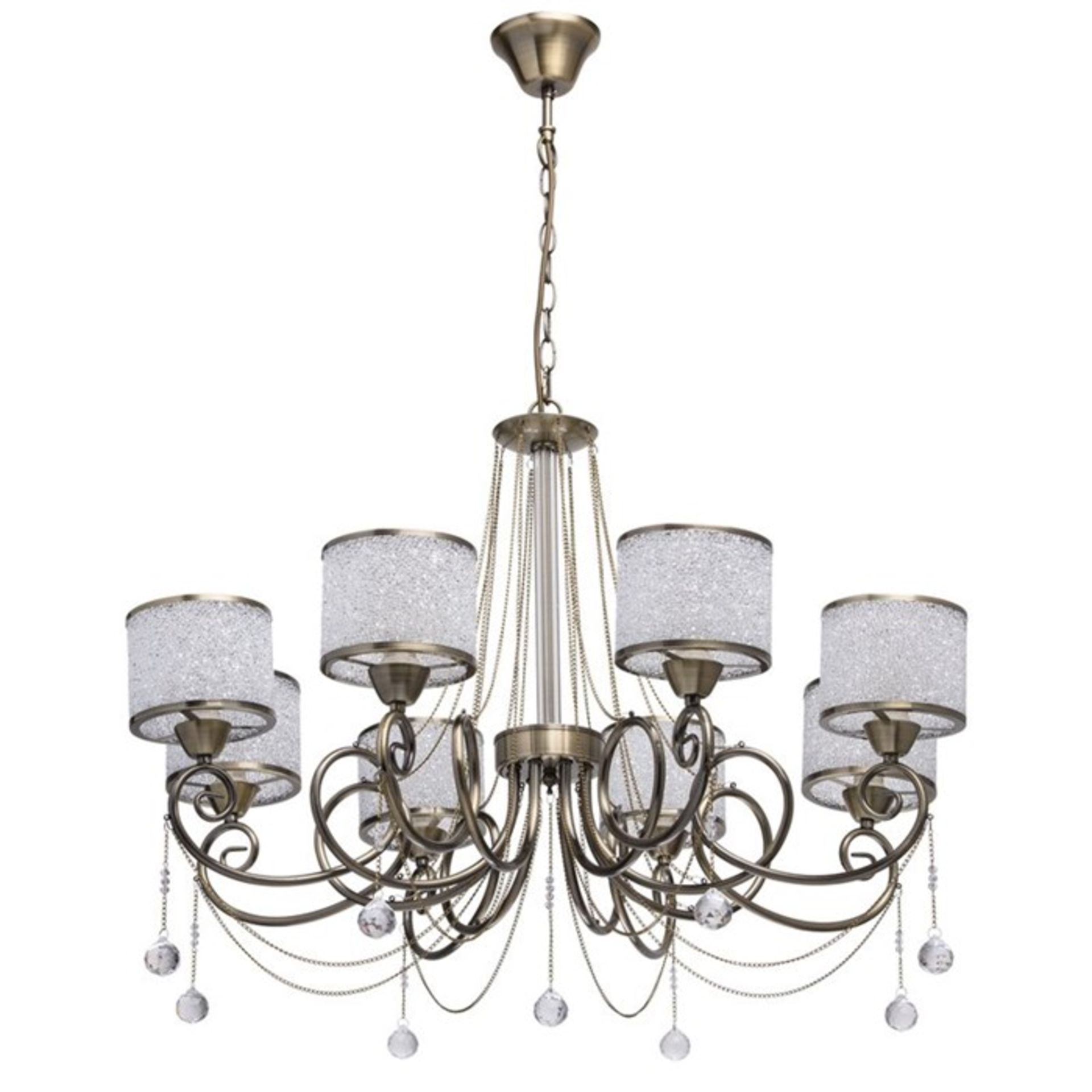 Lot 278 - Willa Arlo Interiors 8-Light Shaded Chandelier (JLIG1012 - 14785/21) 7F