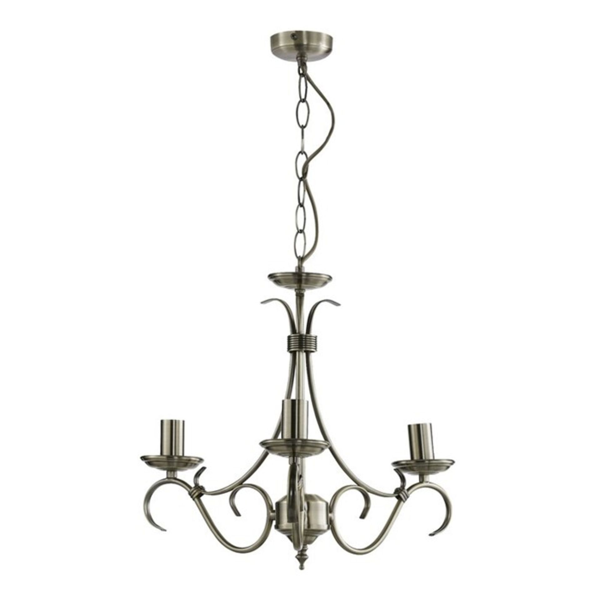 Lot 25 - Marlow Home Co.,Georgiana 3-Light Candle Style Chandelier - RRP £52.99 (UEL1478 - 15767/40) 6G