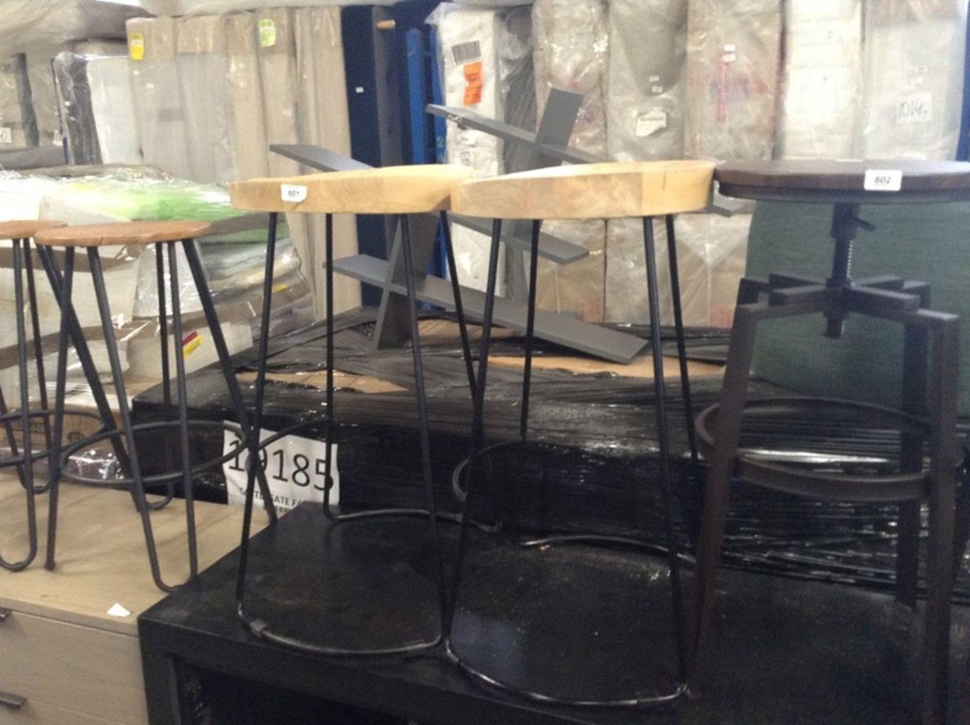 Lot 577 - Union Rustic,Hamlin 70cm Bar Stool (Set of 2) - RR