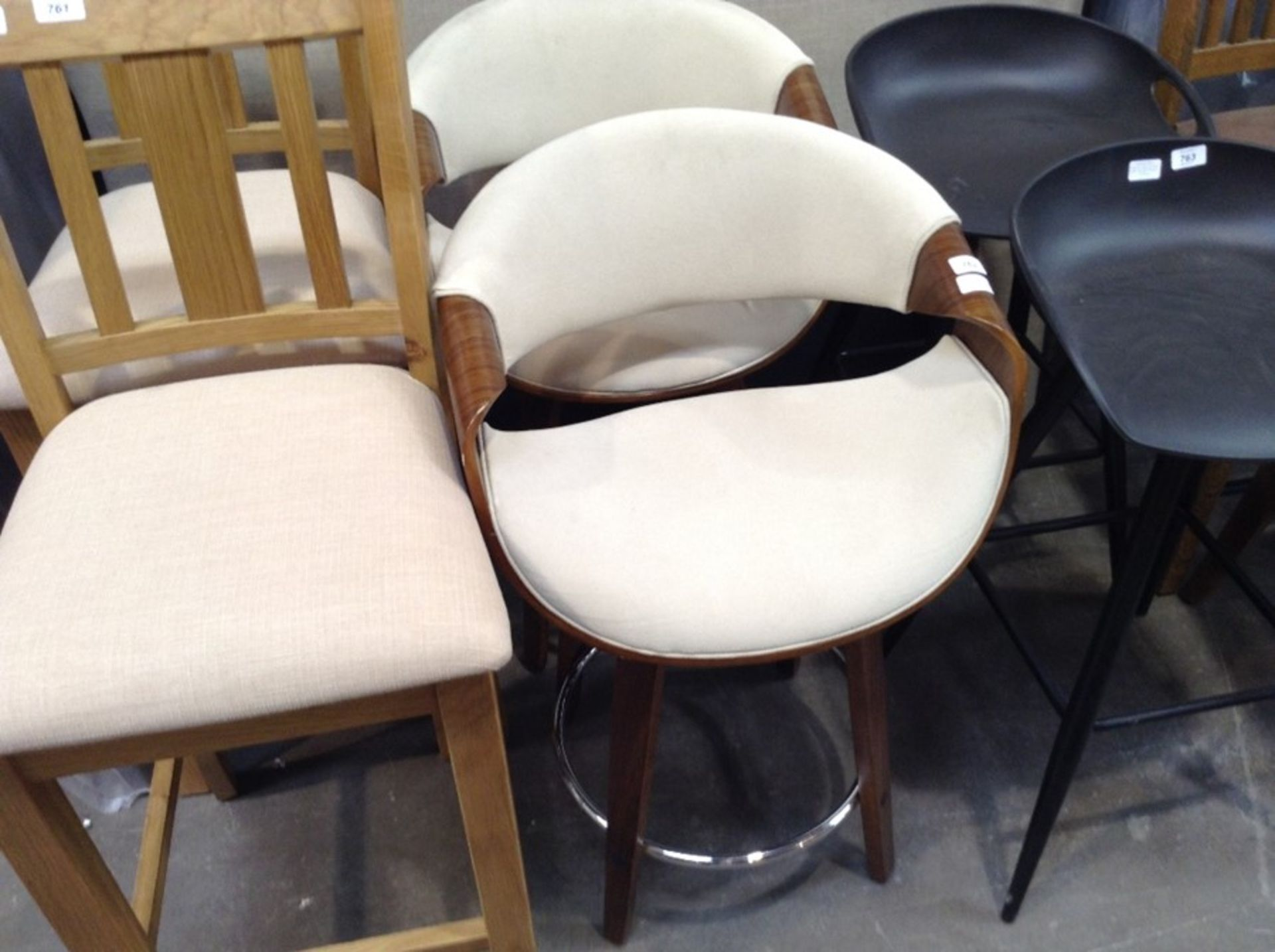 Lot 579 - George Oliver, Auburn 61cm Swivel Bar Stool x2 RRP