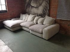 NATURAL PATTERN 3 SEATER CHAISE (W3-J974 J975 J976