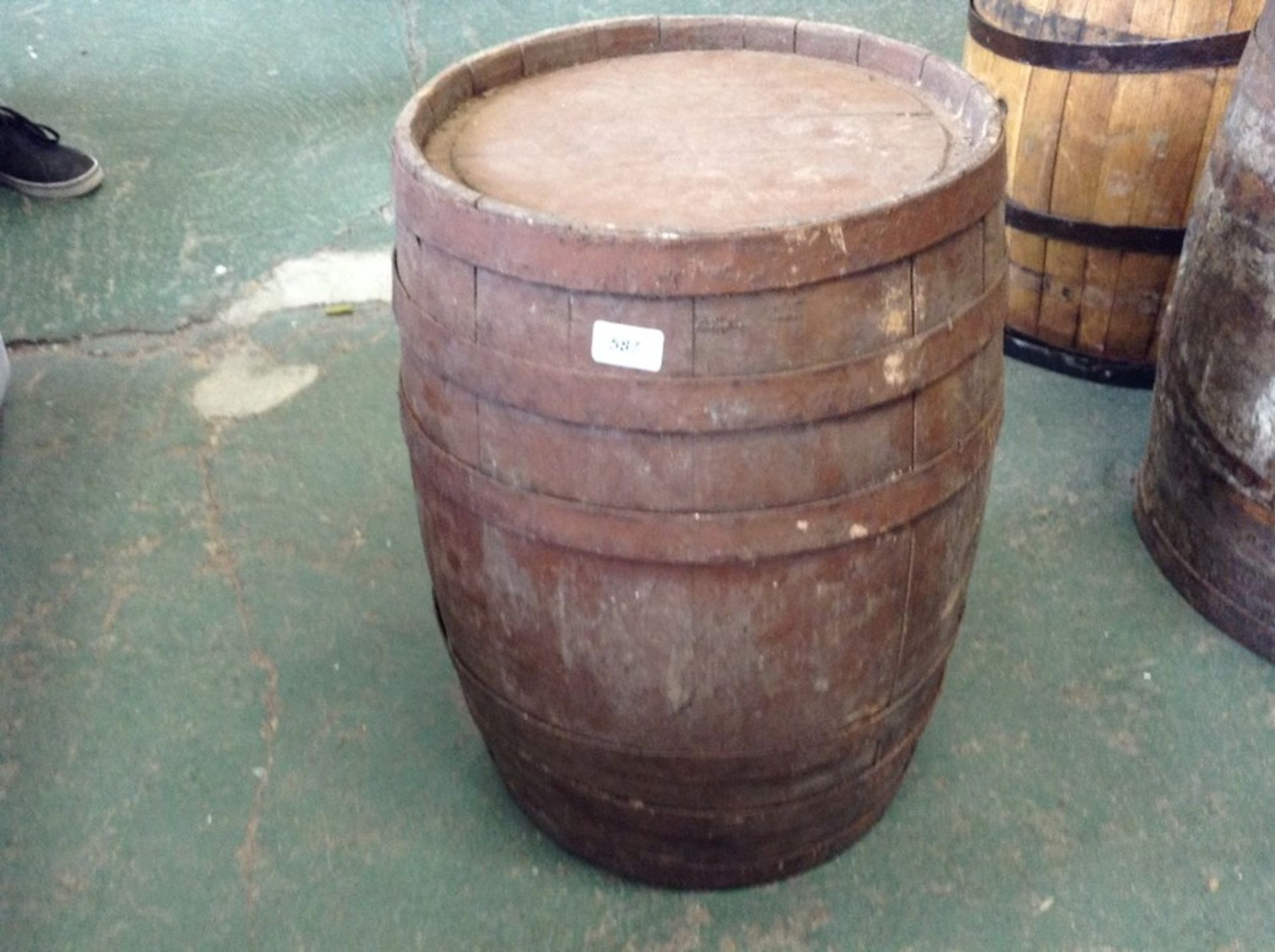 Lot 651 - WOODEN BARREL