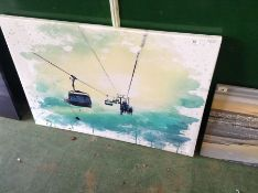 East Urban Home,'Cable Car' Painting Print - RRP £