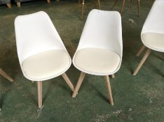 PAIR OF CREAM AND WHITE CHAIR (RETURN)(39)