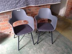 PAIR OF GREY CHAIRS (29)(RETURN)