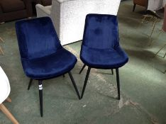 George Oliver,Pyle Upholstered Dining Chair x2RRP