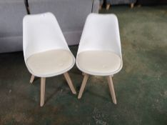 RETURN PAIR OF CREAM AND WHITE CHAIR (37)
