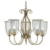 House Additions, Silhouette 5-Light Shaded Chandelier - RRP £91.49 (FOUS6656 - 14892/4) 7G