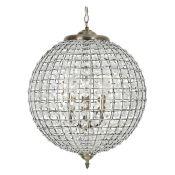 Hazelwood Home, Ballon 1-Light Crystal Pendant - RRP £101.99 (HZEL8221 - 14892/9) 7G