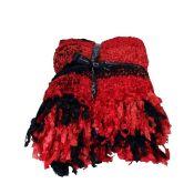 Alpen Home, Mikaela Blanket (RED & BLACK) - RRP £21.99 (HSU1770 - 18595/28) 1C