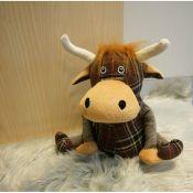 Alpen Home, Ball Highland Cow Fabric Floor Door Stop - RRP £21.99 (GDML1107 - 18595/46) 1C
