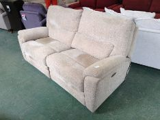 BISCUIT ELECTRIC RECLINING HIGH BACK 3 SEATER SOFA