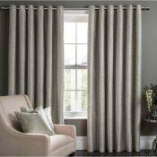 Borough Wharf, Blade Eyelet Room Darkening Curtains (CHARCOAL)(167X228CM) - RRP £103.99 (