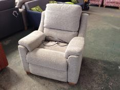 GREY ELECTRIC RECLINING CHAIR