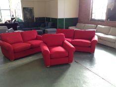 MADISON,LINARA RED 2.5 SEATER & 2 SEATER & CHAIR (