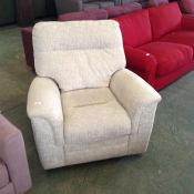 NATURAL ELECTRIC RECLING CHAIR (TROO1965 WOO565261