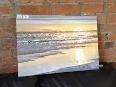 Urban Designs,'That Sunset Moment' by Kate Carrigan Graphic Art Print on Wrapped Canvas RRP -£45.