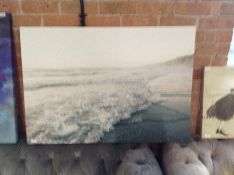 SEA PICTURE (DAMAGED FRAME)