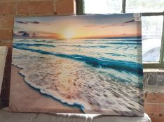 East Urban Home,Sea at Sunset Graphic Art on Canvas RRP -£49.99 (EXXP1873 -15741/3)