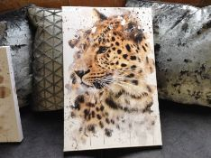East Urban Home,'Leopard 2' Painting on Canvas RRP -£28.99 (EUCJ9373 -15741/39)
