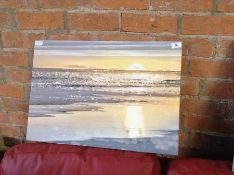 Urban Designs,'That Sunset Moment' by Kate Carrigan Graphic Art Print on Wrapped Canvas RRP -£43.