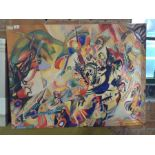 Hokku Designs,Composition 7 by Wassily Kandinsky Painting Print on Wrapped Canvas RRP -£51.99 (