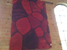 Zipcode Design, Pedro Hand-Tufted Red Area Rug RRP £92.99 (OZV2403 - 18359/17)