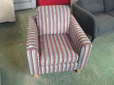 PORTIA Como Stripe Duck Egg Chair (SFL929)