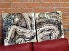 East Urban Home,'Cool Stone' 2 Piece Photographic Print Set on Canvas RRP -£29.99 (INKV1005 -15741/