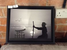 East Urban Home,Samurai Master in Front of the Horizon Framed Photographic Art Print RRP -£38.99 (