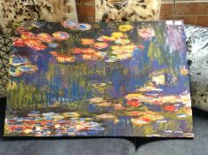 Red Barrel Studio,'Water Lilies, 1916' by Claude Monet Graphic Art Print on Wrapped Canvas RRP -£