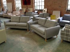 DYLAN WINDSOR GREY 3 SEATER AND 2 SEATER SOFA (SFL818-SFL819)
