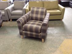 BROOKE CHECK NAVY CHAIR (SFL810)