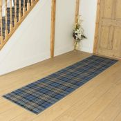 Alpen Home,Ashlynn Tufted Blue Hallway Runner Rug RRP -£ 101.99(18267/44 -RNGU1151)