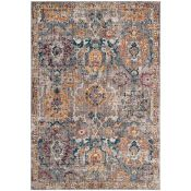 World Menagerie, Soluri Transitional Grey/Blue Rug RRP £105.99 (QQ7941 - 18699/6)
