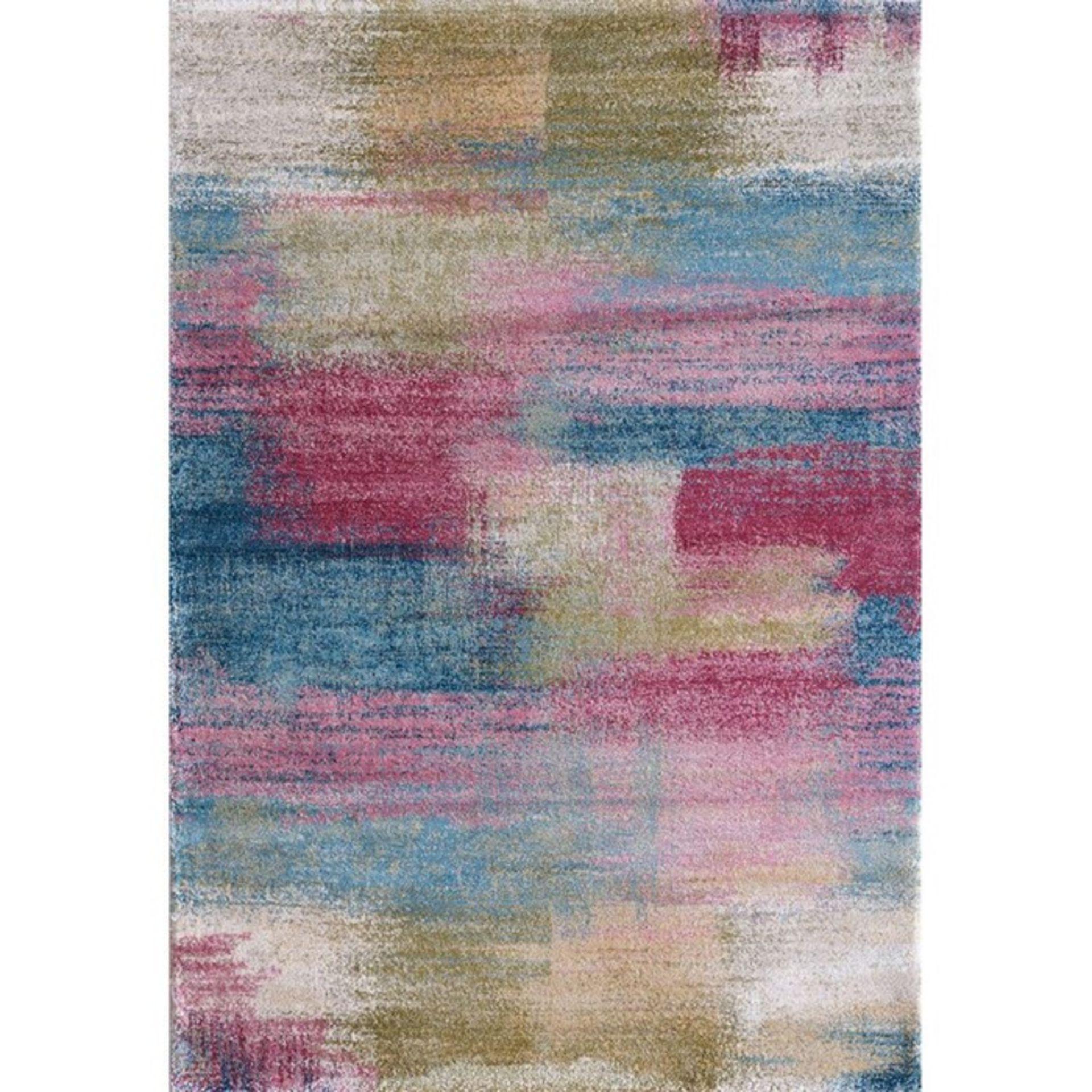 Latitude Vive,Emmett Pink/Blue Rug RRP -£212.99 (WLDJ7431.25794972 -H15948 - 2/14)