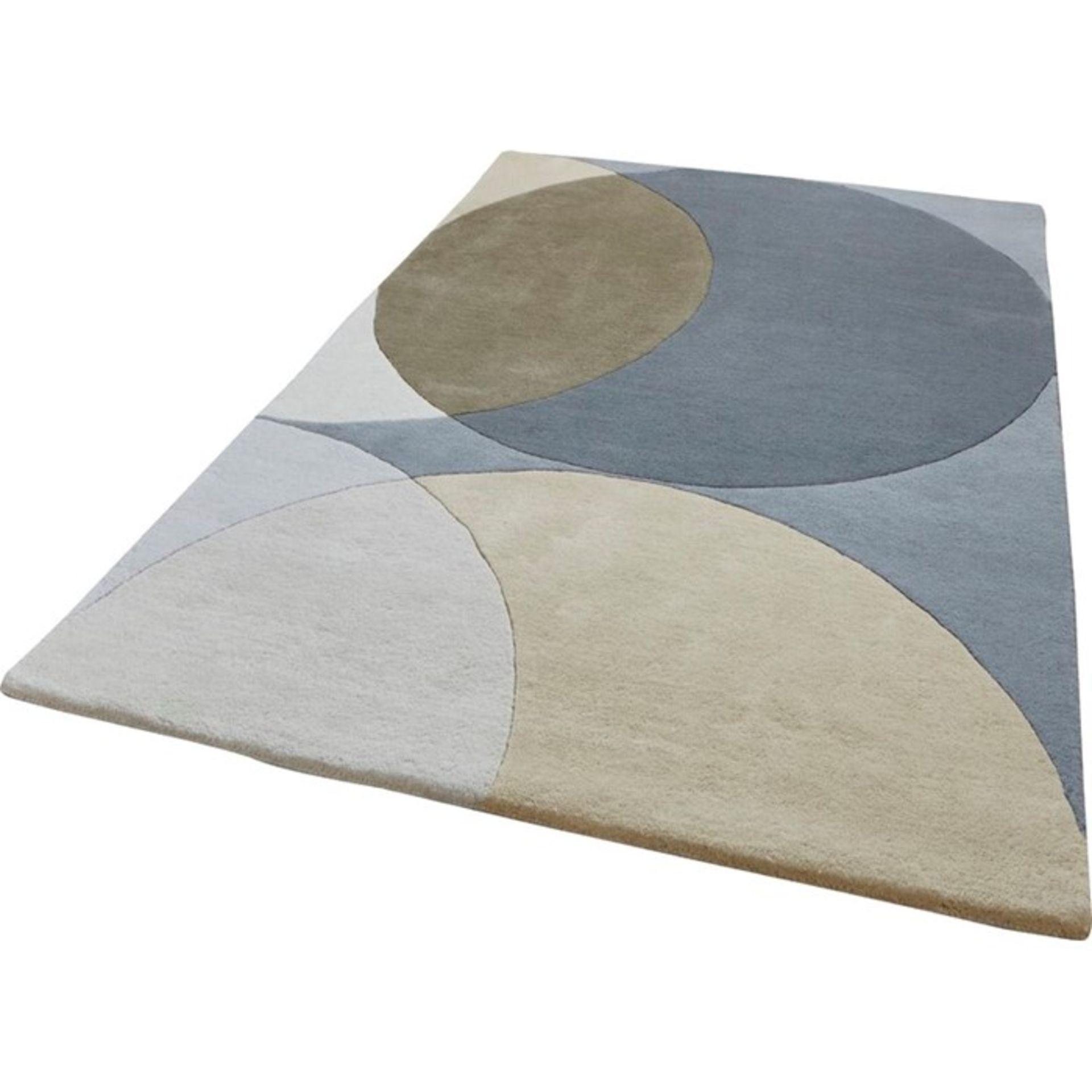 Fjørde & Co,Avaraja Hand-Tufted Grey Area Rug ,RRP - £139.99 (OZV2340 - 17454/37)