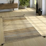 World Menagerie, Earby Handmade Kilim Cotton Beige Rug RRP £109.99 (ALAS6620 - 18699/37)