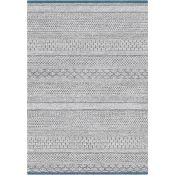 World Menagerie,Needham High Pile Ethnic Grey/Blue Rug RRP -£ 60.99(18267/57 -LLFY1426)