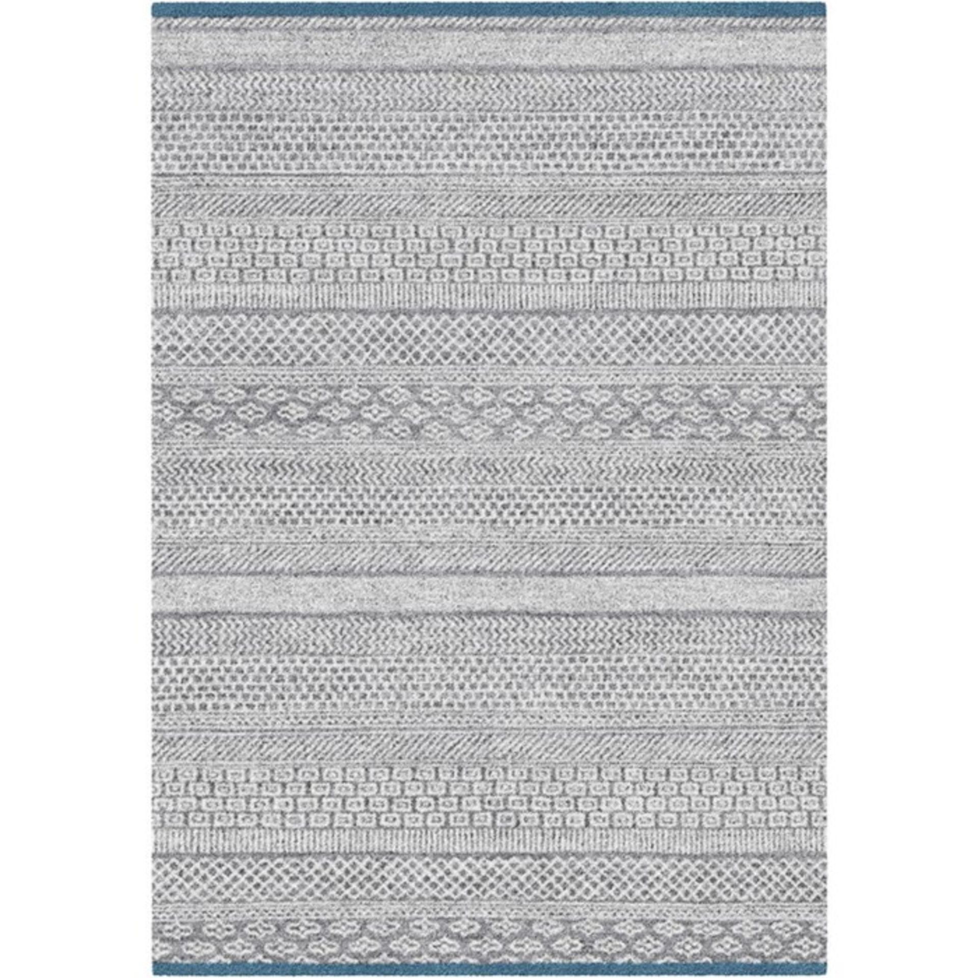 World Menagerie,Needham High Pile Ethnic Grey/Blue Rug RRP -£ 60.99(18267/57 -LLFY1426)