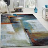 Borough Wharf,Salgado Grey/Blue Rug (80X150CM)RRP -£ 37.99(18267/41 -ALAS6519)