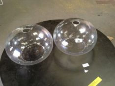 2 GLASS LAMP SHADES